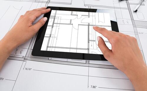 Architect w iPad Plans