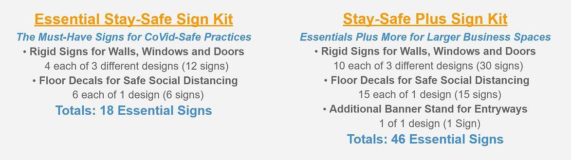BarlerBlue Stay- Safe Sign Kits-1