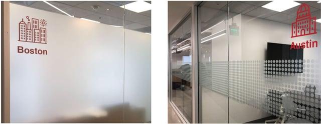 Boston & Austin Zumper Wayfinding & Privacy Glass by BarkerBlue