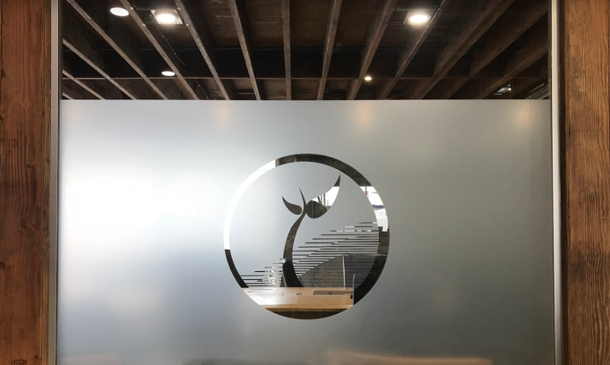 Glass Logo Conference Room