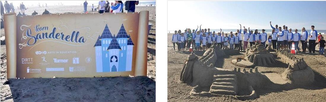 BarkerBlue Sandcastle Classic Sign Supports Arts Education