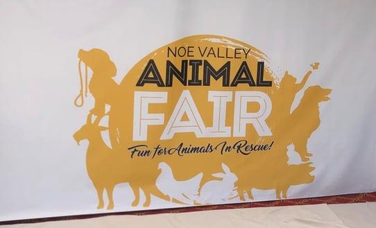 Noe Valley Animal Fair Banner by BarkerBlue Create