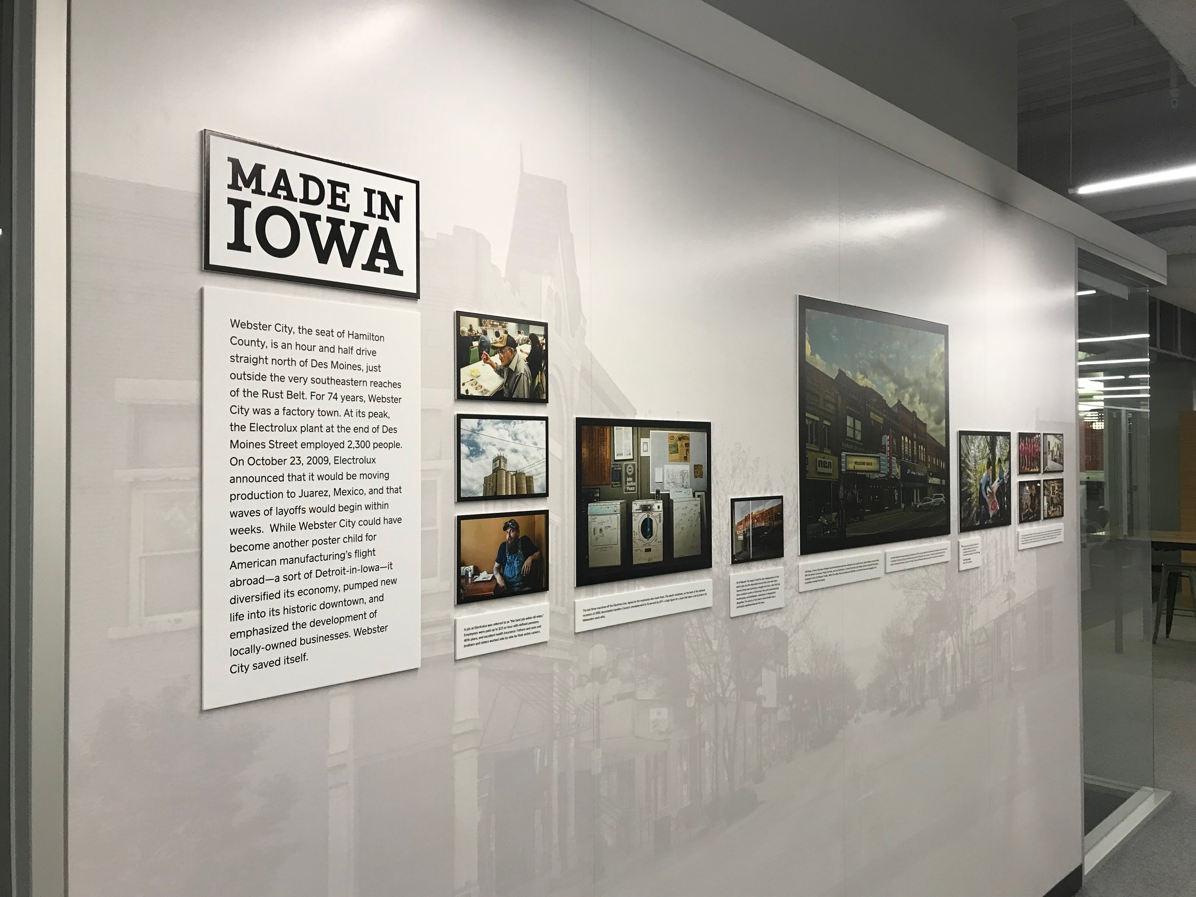 Square's Webster City Iowa Display