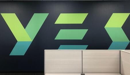 YES Wall Graphics w Cubicles by BarkerBlue 1